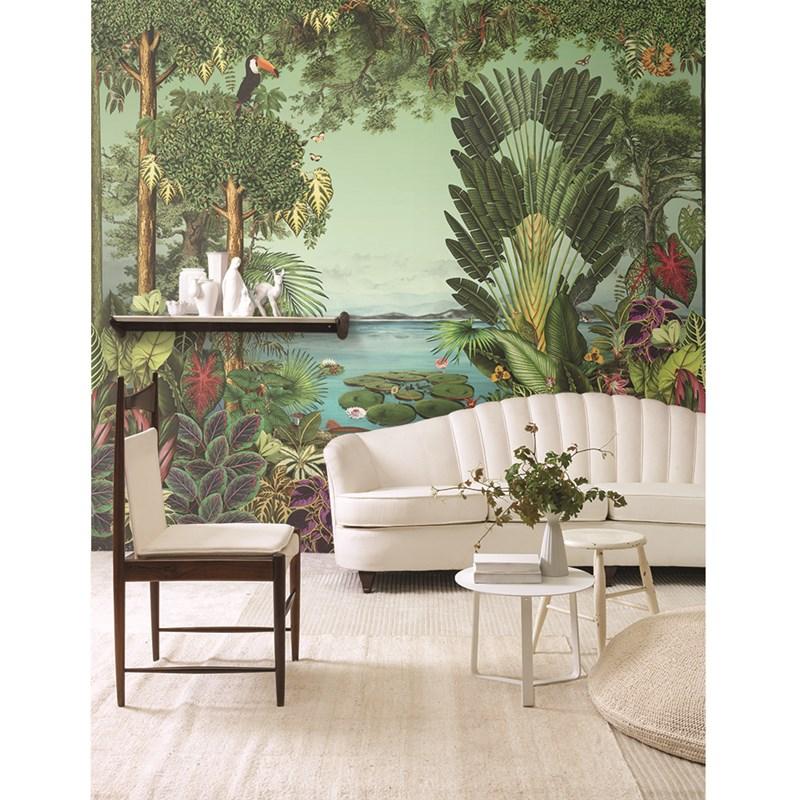 Papel de parede de floresta Adriana Barra para Branco.  Ver no site
