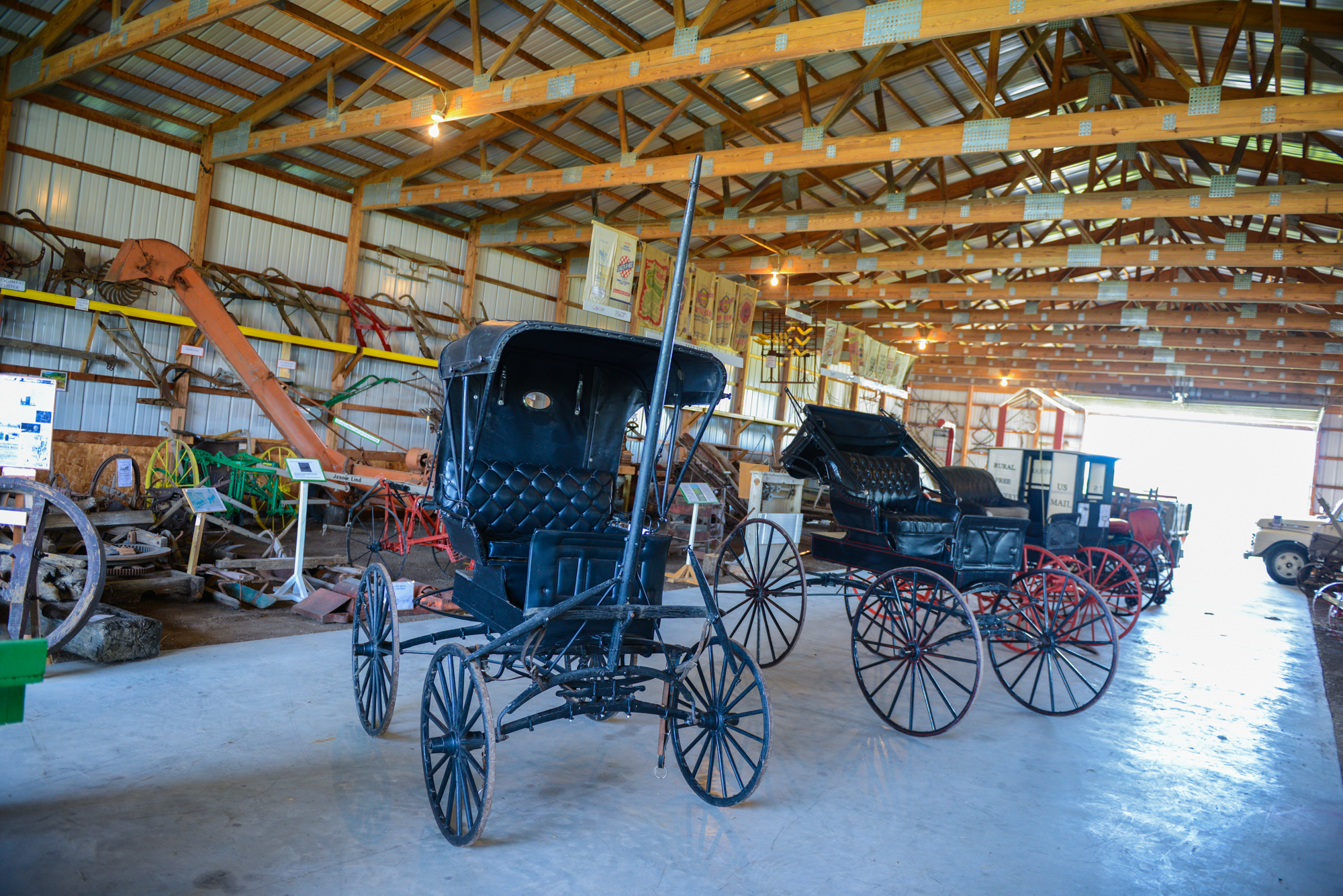 Historic Buggies in Reminisce Building