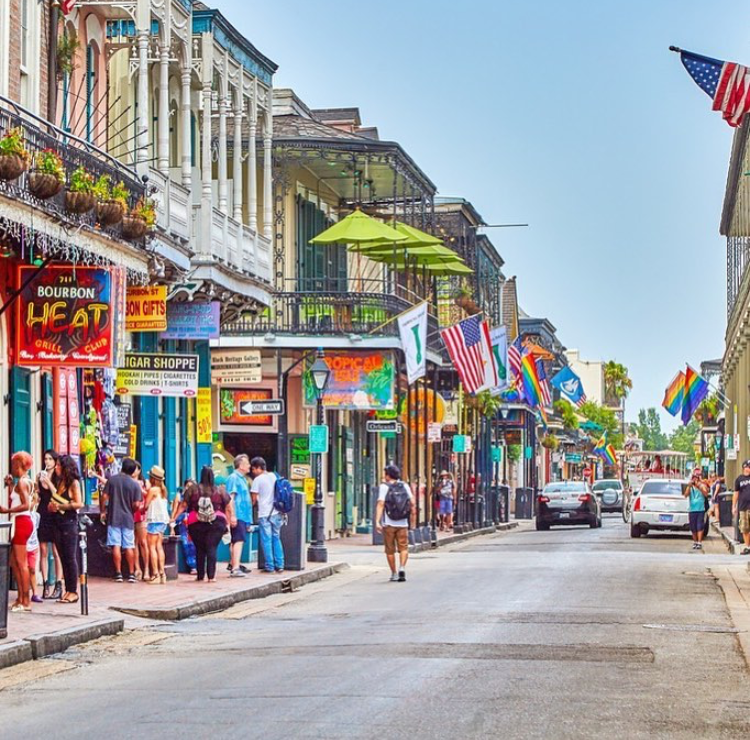 Bourbon Street during the day [photo cred: wdsu6]