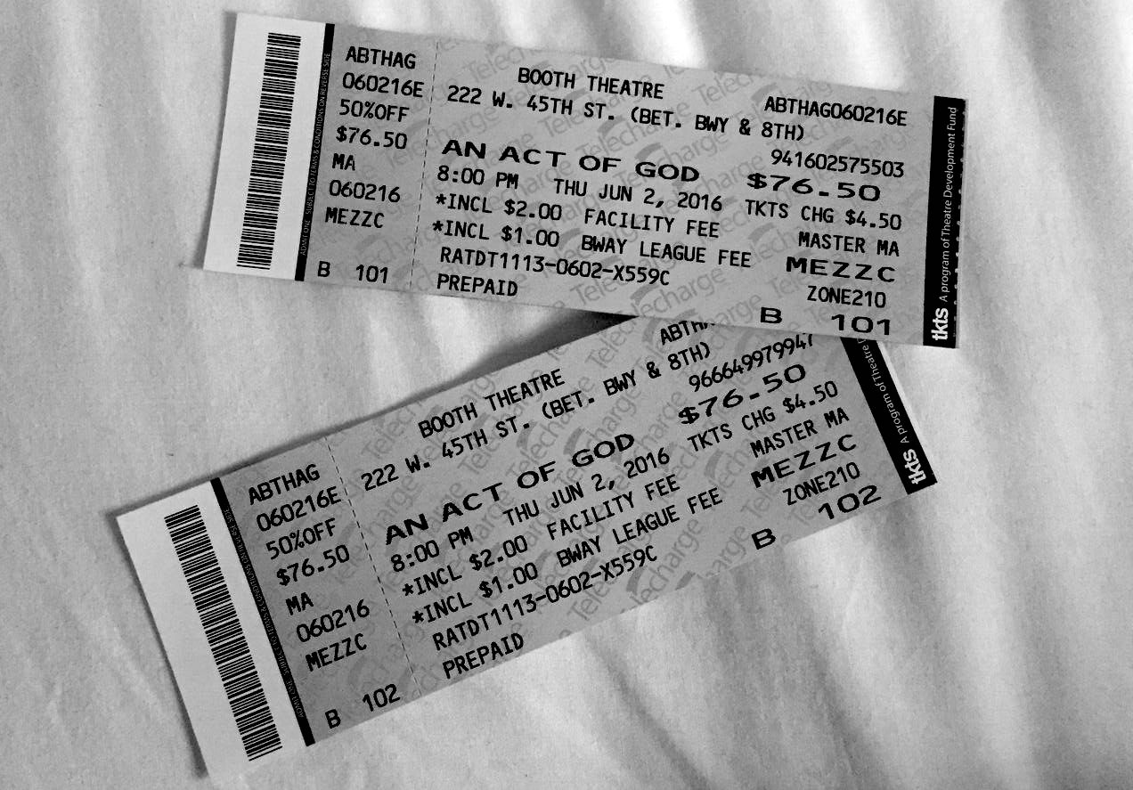 Tickets to  An Act of God