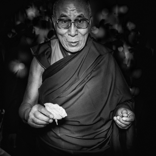 His Holiness, The Dalai Lama, copyright Peace in 10,000 Hands 2014.jpg