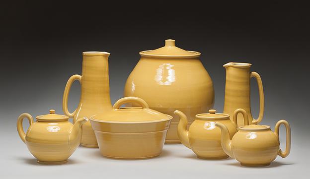 Yellow Ware Group by Linda Sikora