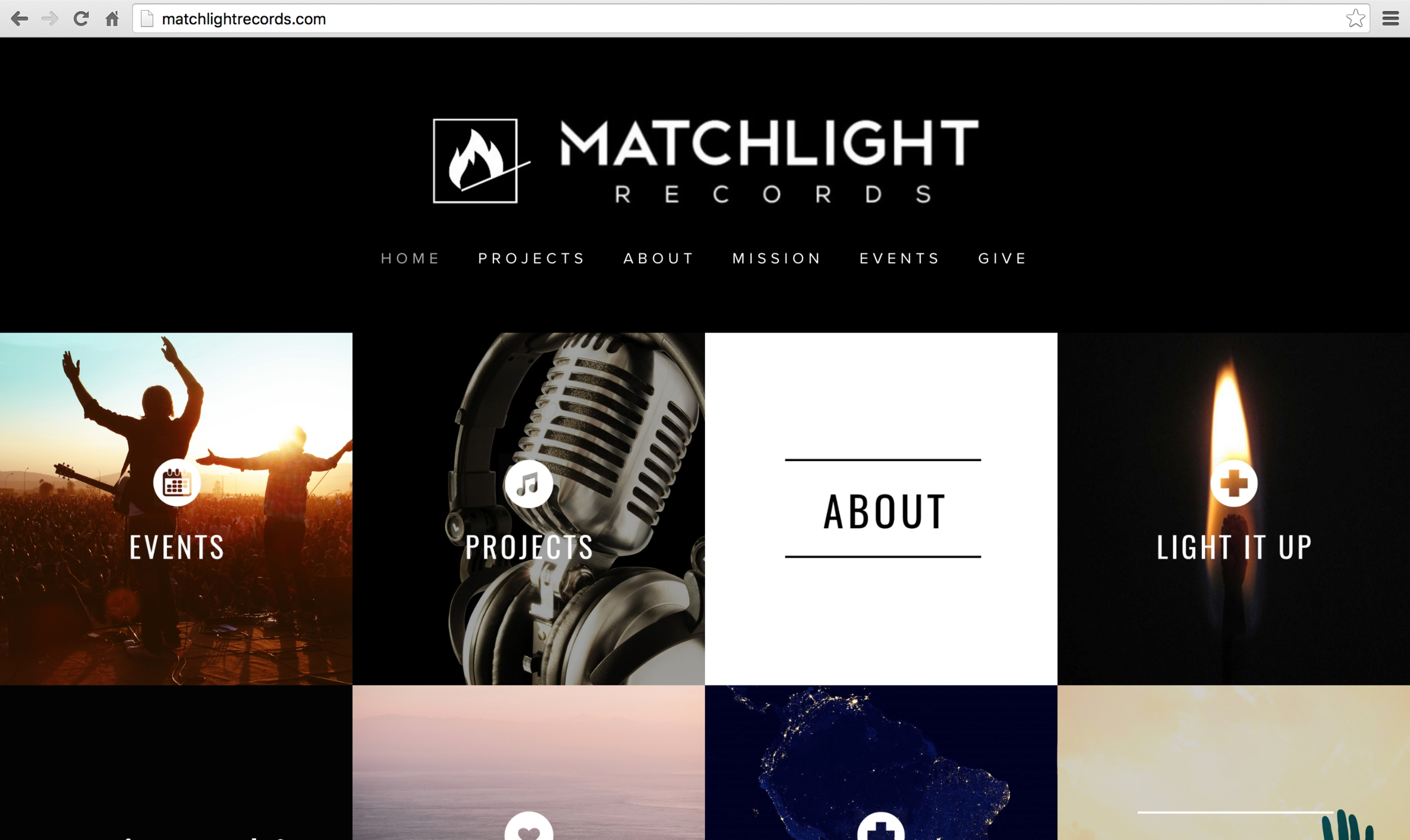 MATCHLIGHT RECORDS WEBSITE