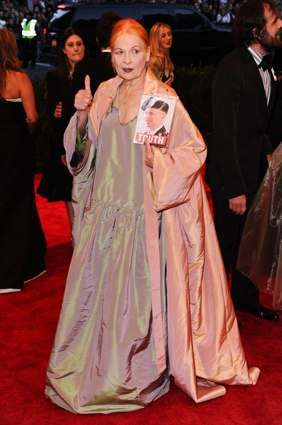 Vivienne Westwood at the Met Gala, 2013. (credit: Photo Rex / Daily Mail )