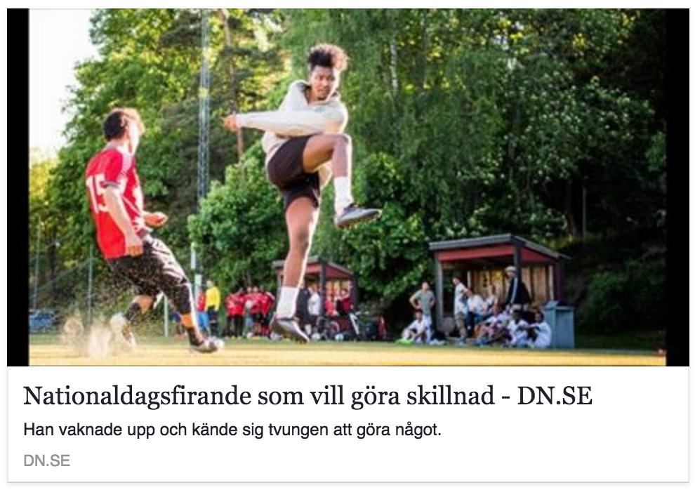 """DN gör reportage om initiativtagaren Erik Englund  """"Han vaknade upp och kände sig tvungen att göra något"""""""