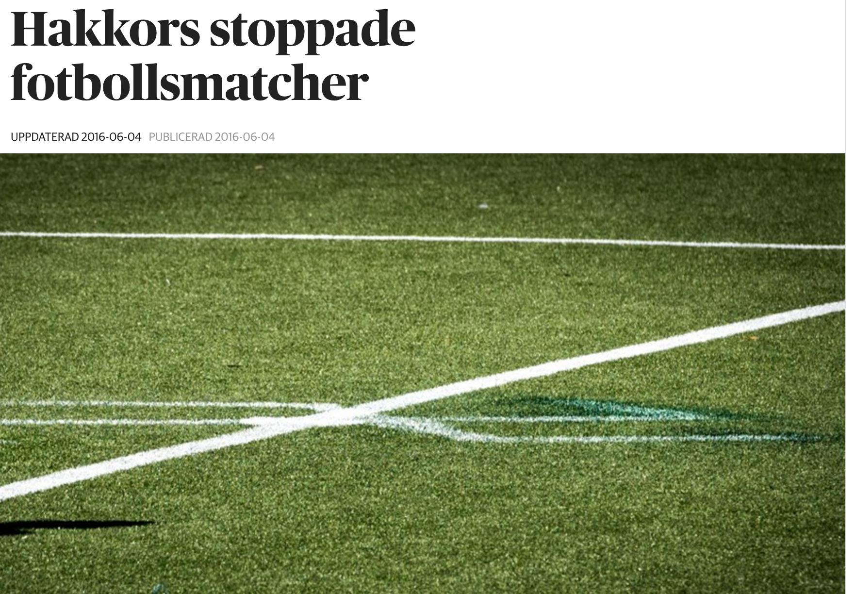 DN rapporterar om vandaliseringen dagarna innan TIllsammans Cup