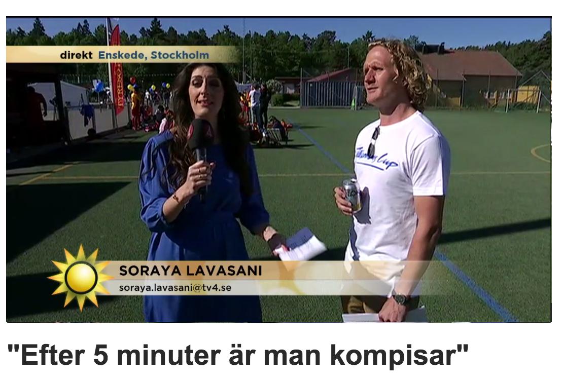 Nyhetsmorgon är på plats innan Tillsammans Cup sätter igång och intervjuar Erik Englund