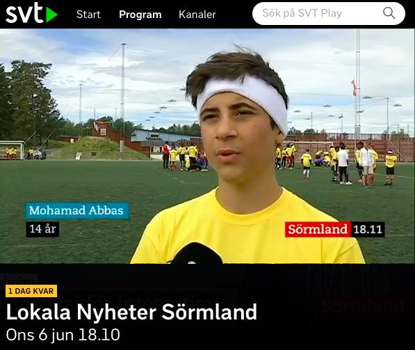Spelare på Tillsammans Cup Katrineholm intervjuas 2018