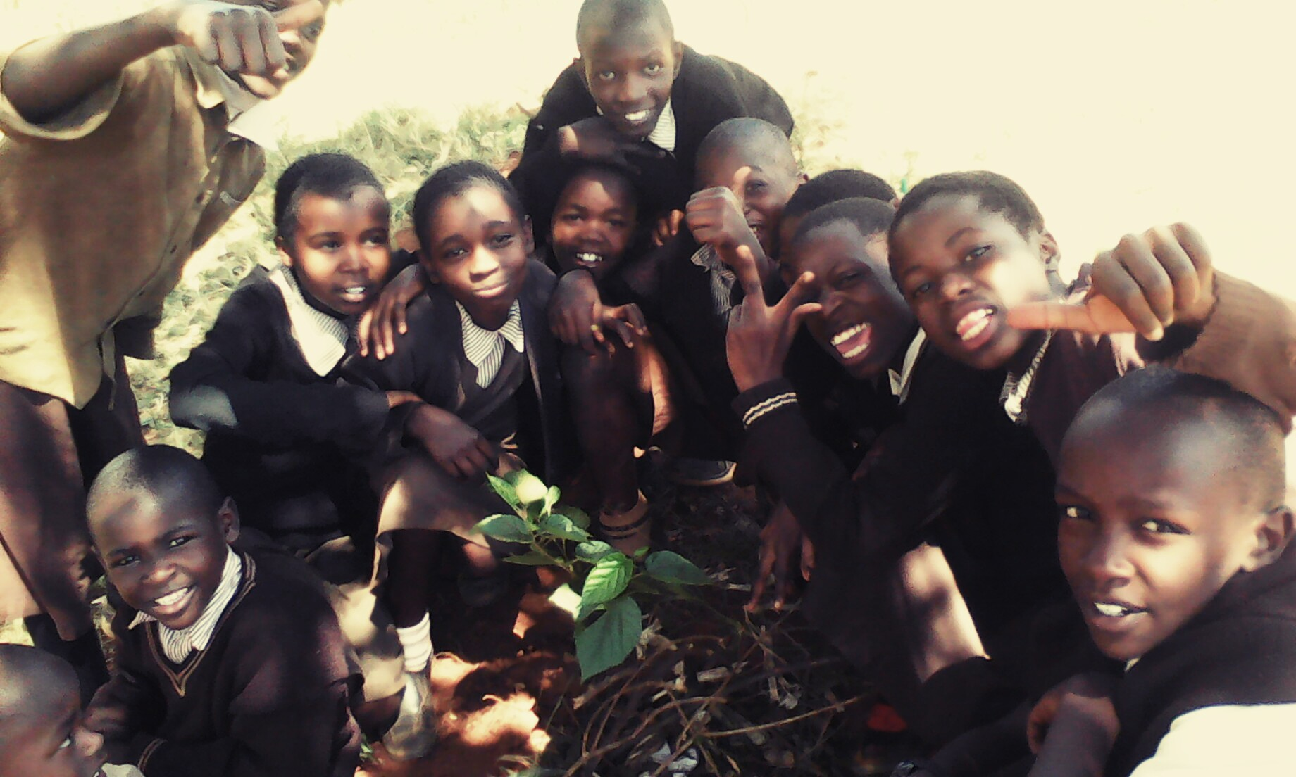 Kangemi students,  happy permaculture practitioners