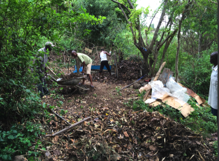 Building a compost site