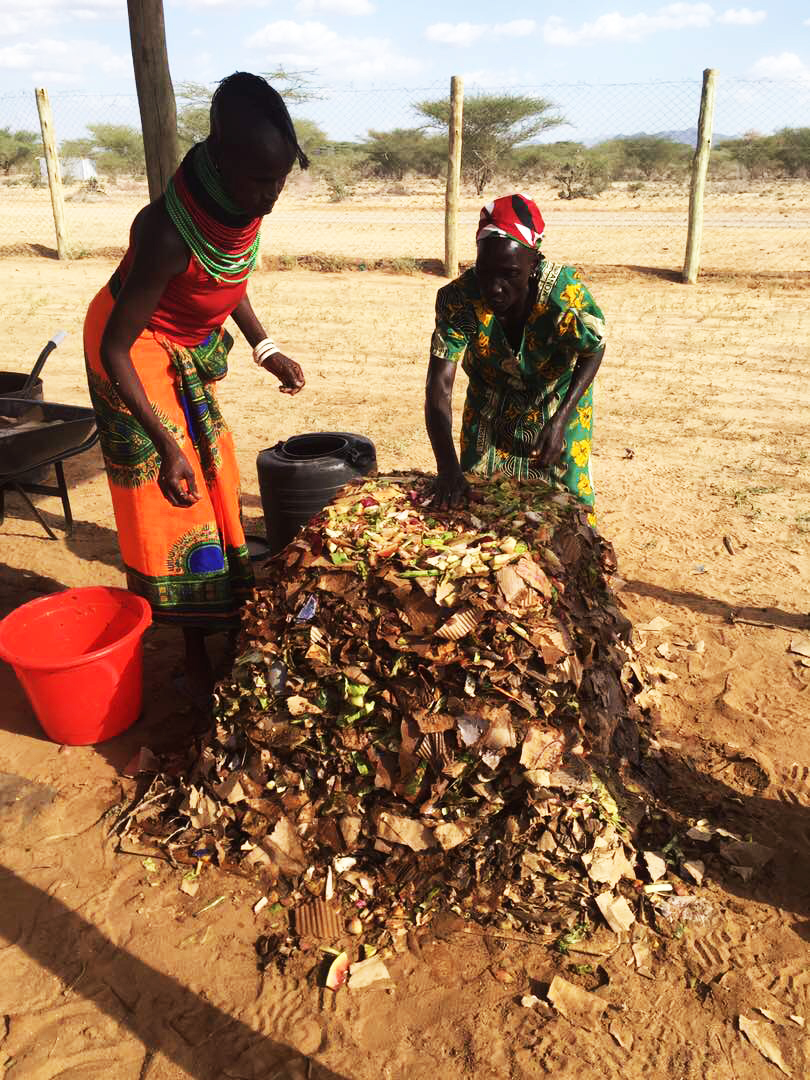 Making Compost | Turkana Farm women