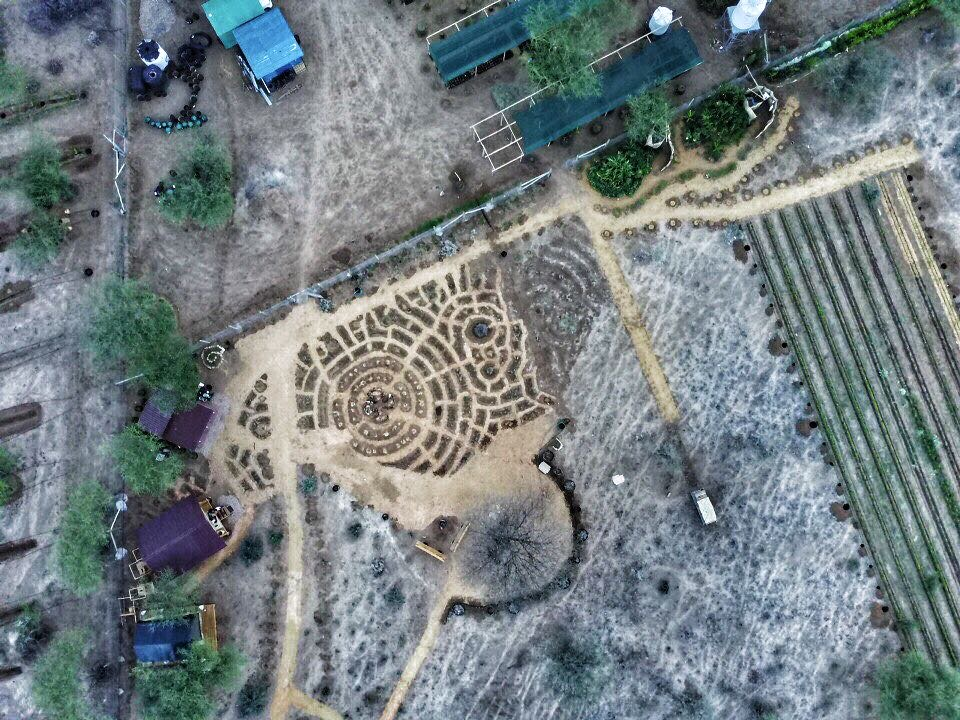 An aerial shot of our zone 1 demonstration area at the Nakukulas farm.