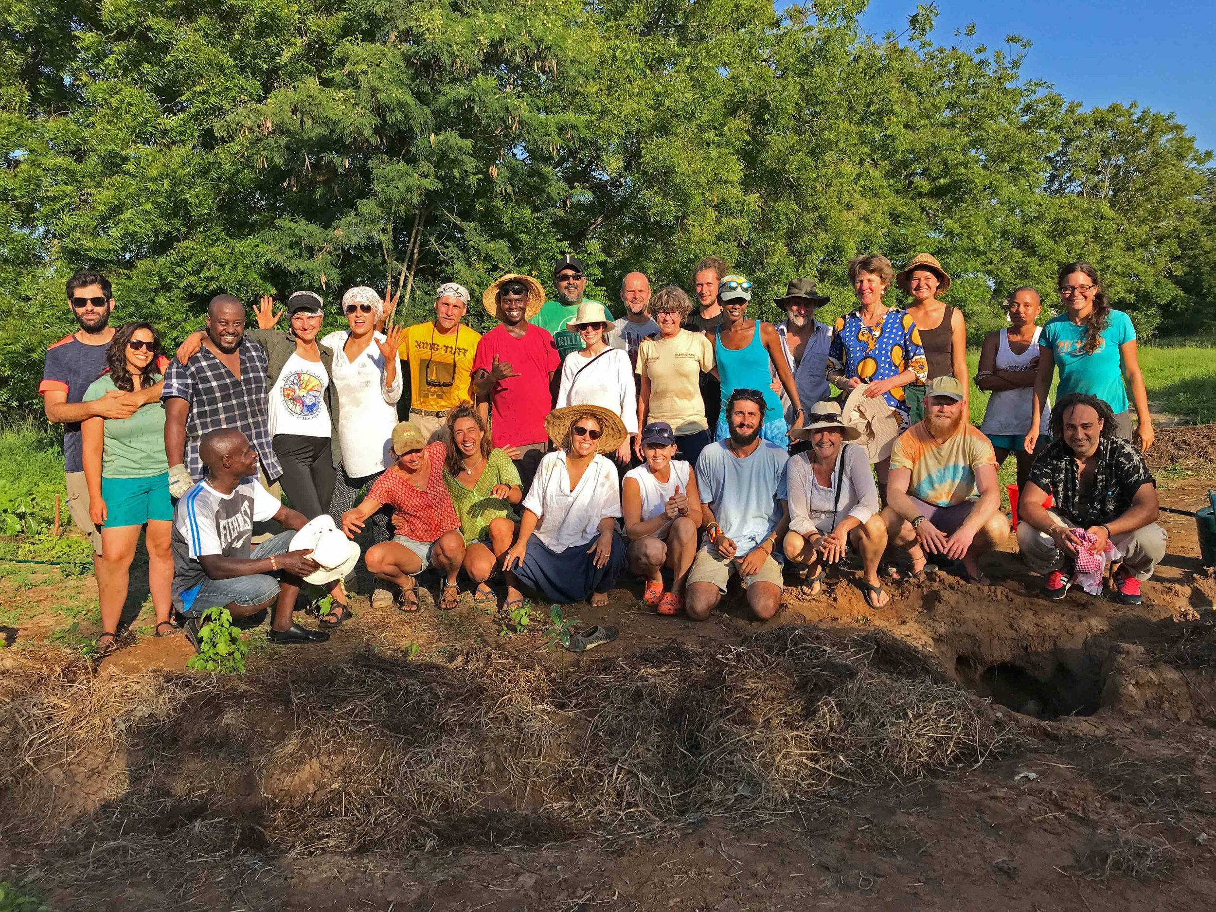 Permaculture Course Participants plant Food Forest for Kilifi New Year