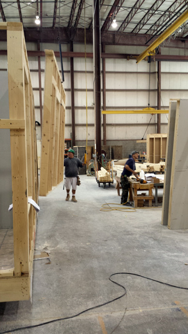 wall framing installation