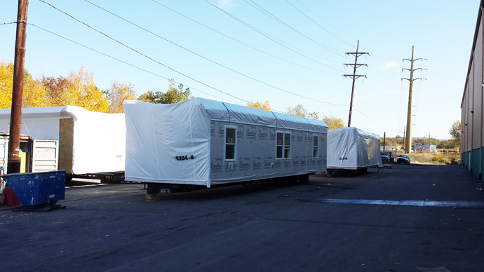 prefab unit outside