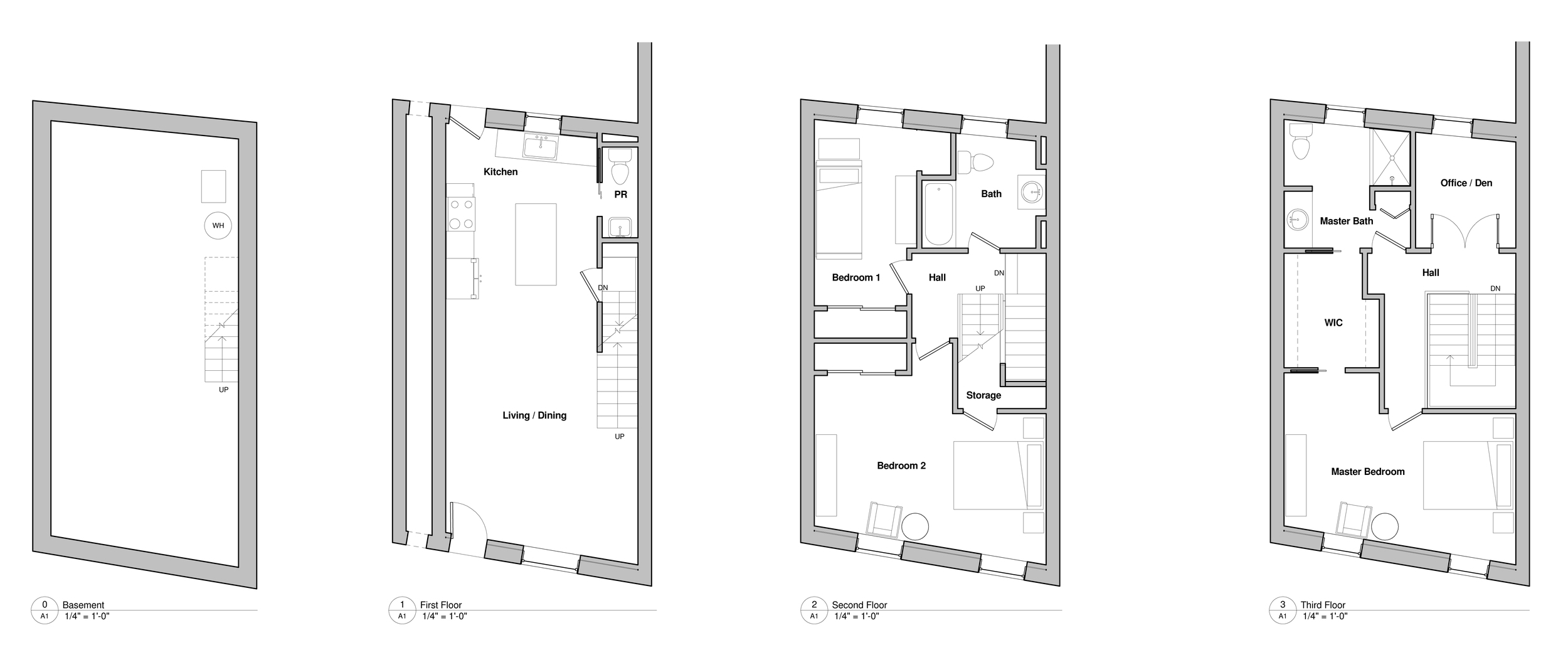 Plans of the finished project