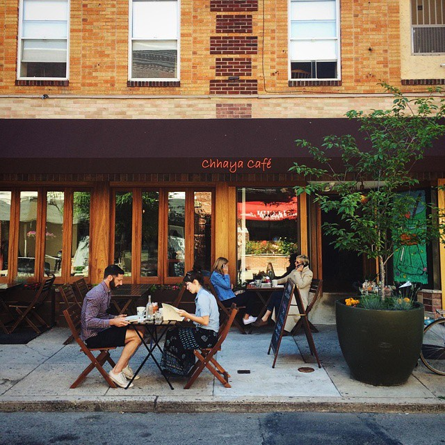 Sidewalk cafe seating