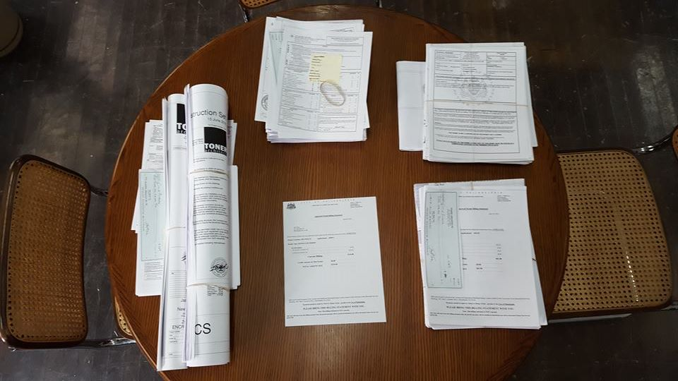 assembling permit materials for five current projects