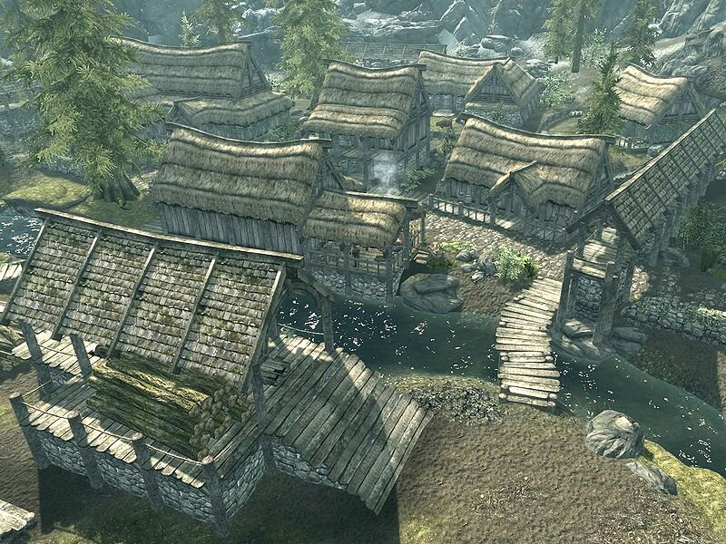 Riverwood Village –  The Elder Scrolls V: Skyrim,  2011, Bethesda Game Studios
