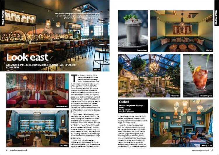 BAR MAGAZINE FEBRUARY '18BABA EDINBURGH &THE PRINCIPAL EDINBURGH, CHARLOTTE SQUARE -