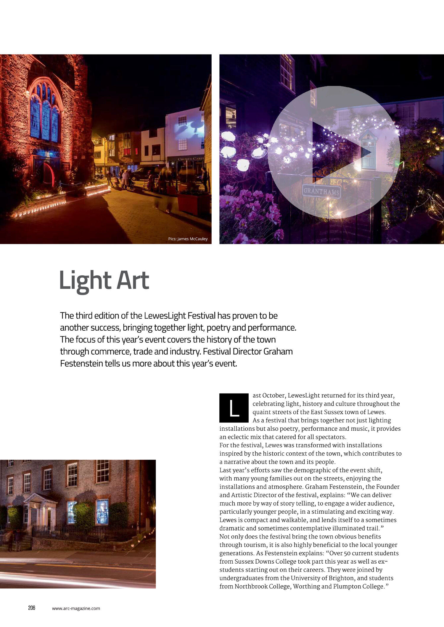 ARC MAGAZINE #102 FEBRUARY/MARCH '18LEWES LIGHT 2017 -