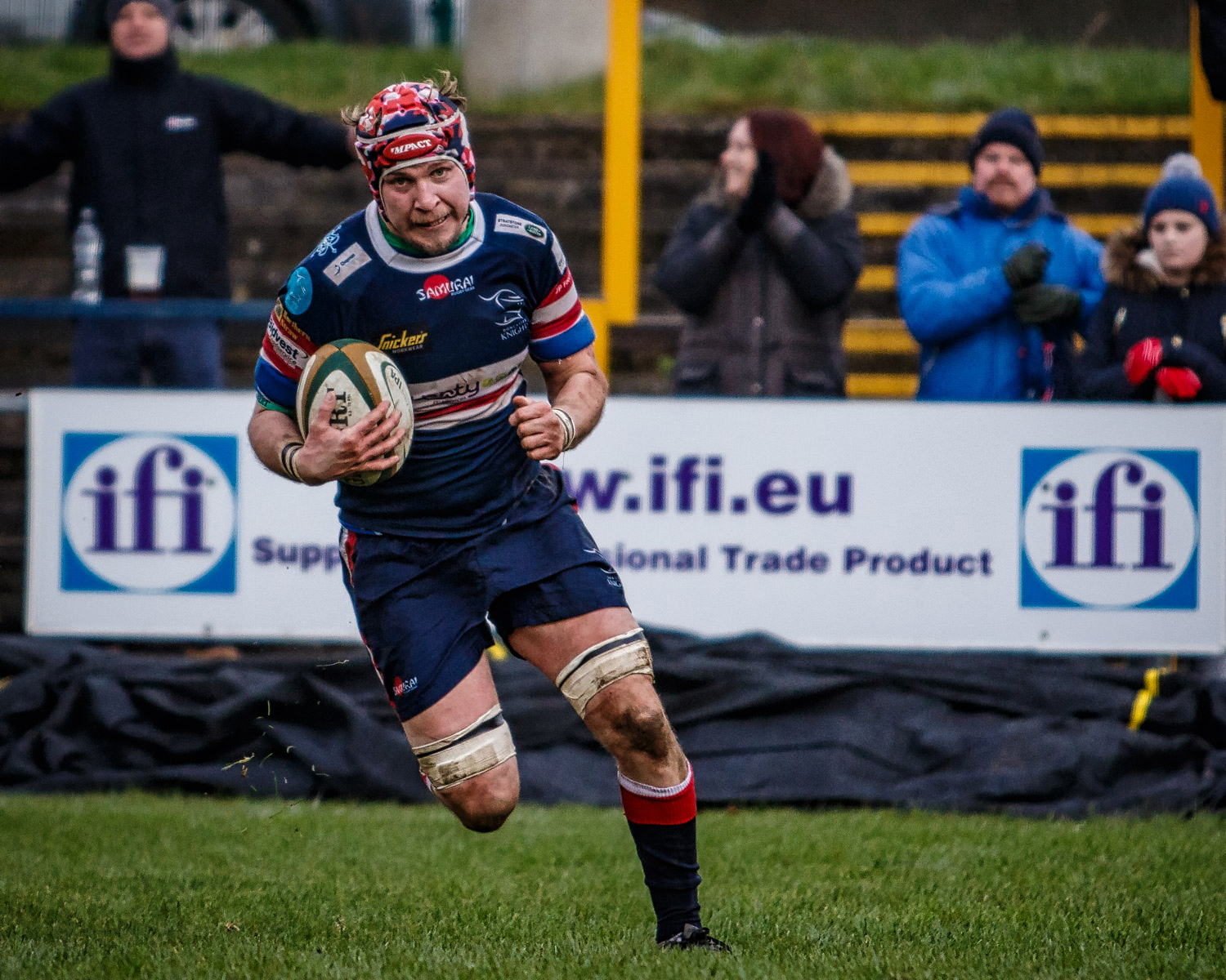 Michael Hills: Last gasp try for the Knights