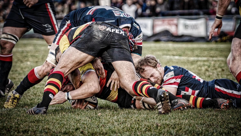Scrum-half Michael Heaney Hangs On