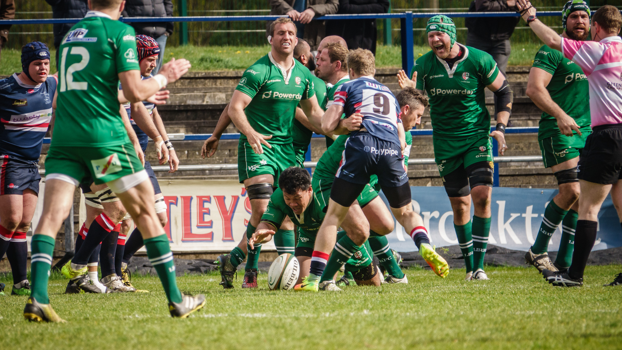 Early second half try for London Irish