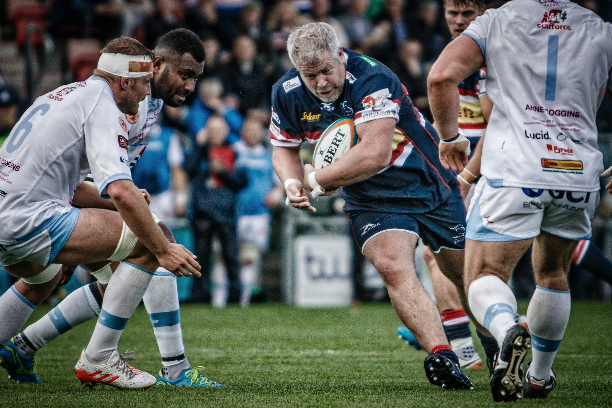 Colin Quigley fully deserved his man of the match award - a thorn in the Titans' side all match