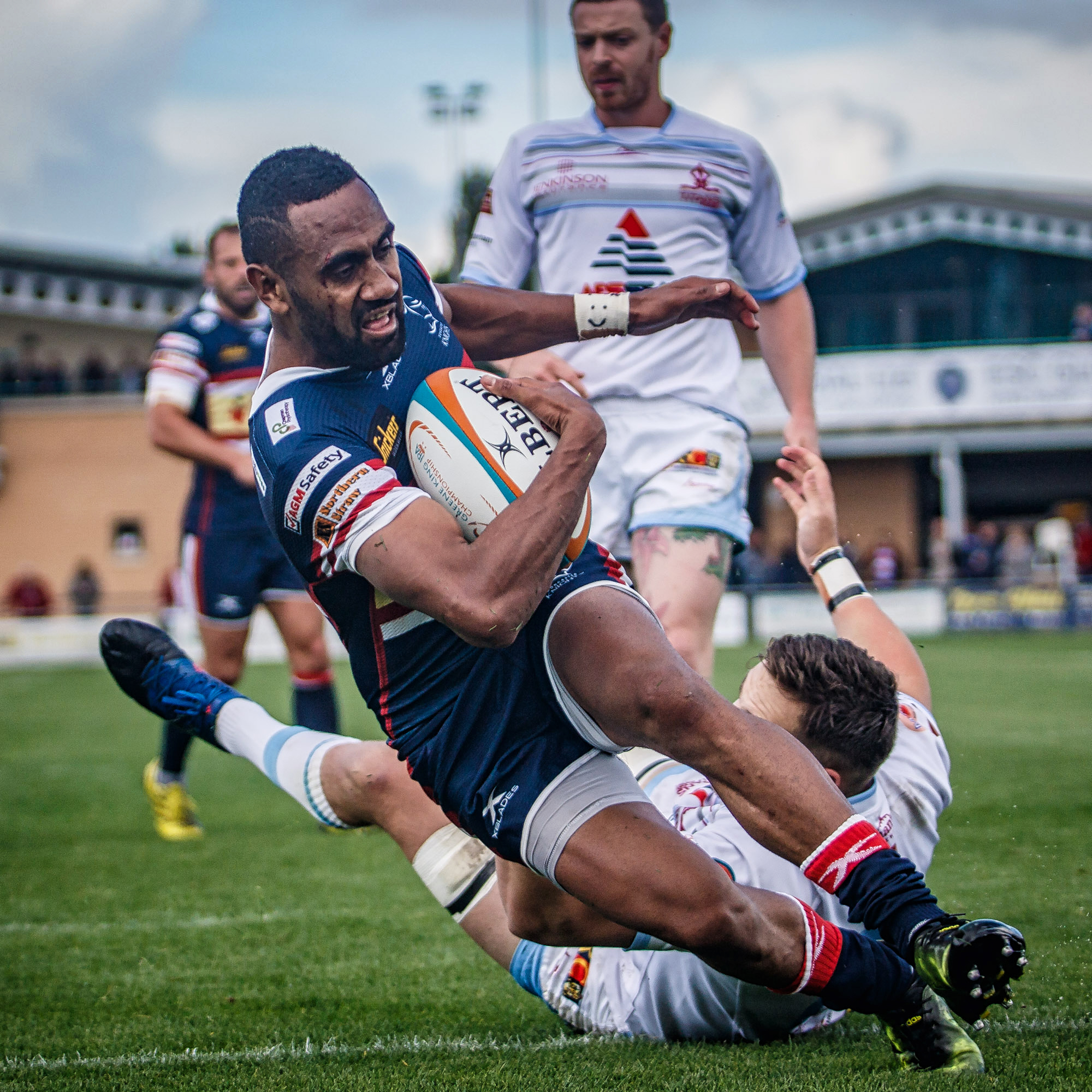 Andy Bulumakau with his second try of the afternoon