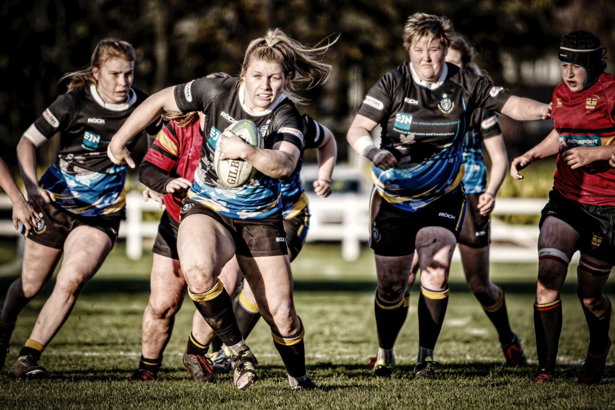 Lois Mae powering her way through for a second half try