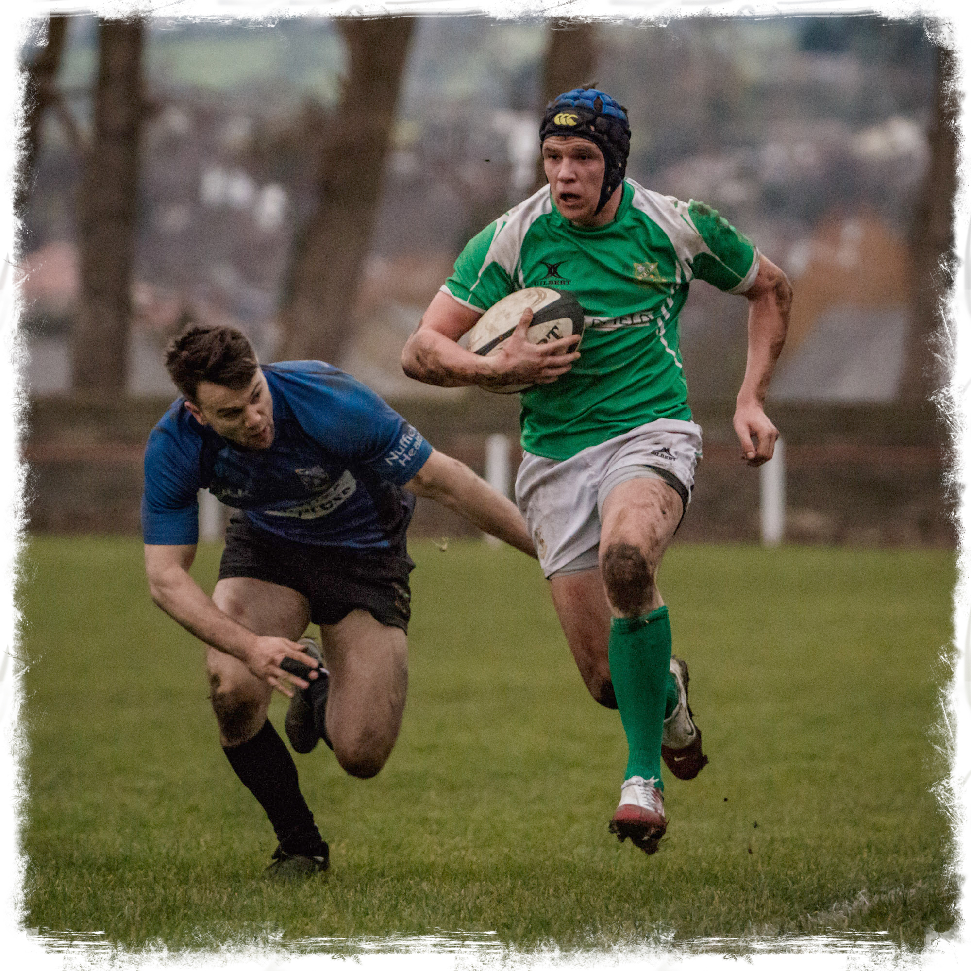 Dale's Robbie Davidson in full flight - off the ground!