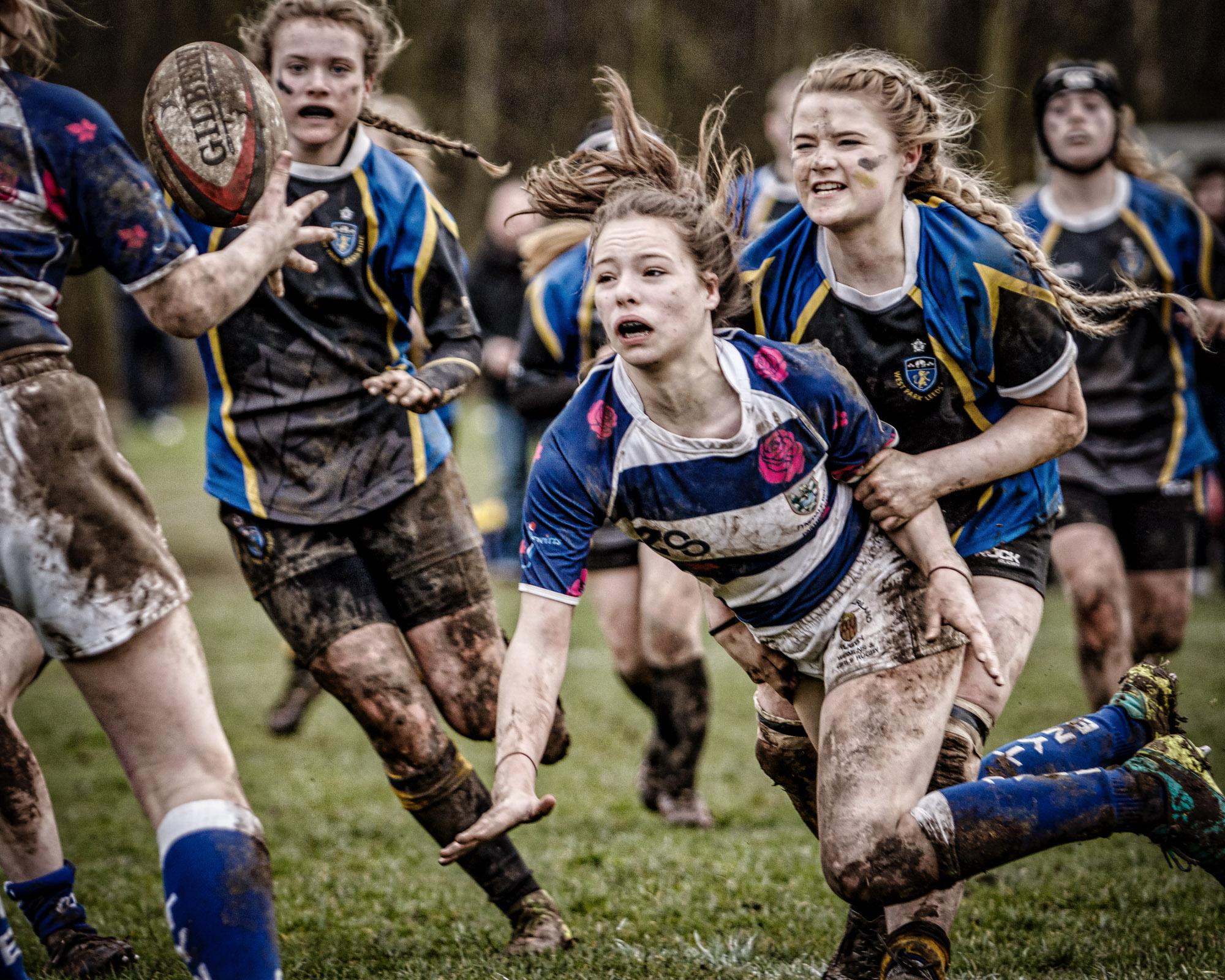Tackle, West Park Leeds U15 Girls v Tynedale, Darlington