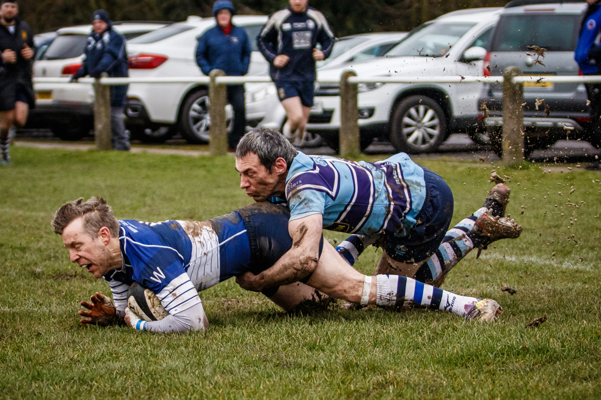 Pontefract's first try after Ripon had built a healthy lead