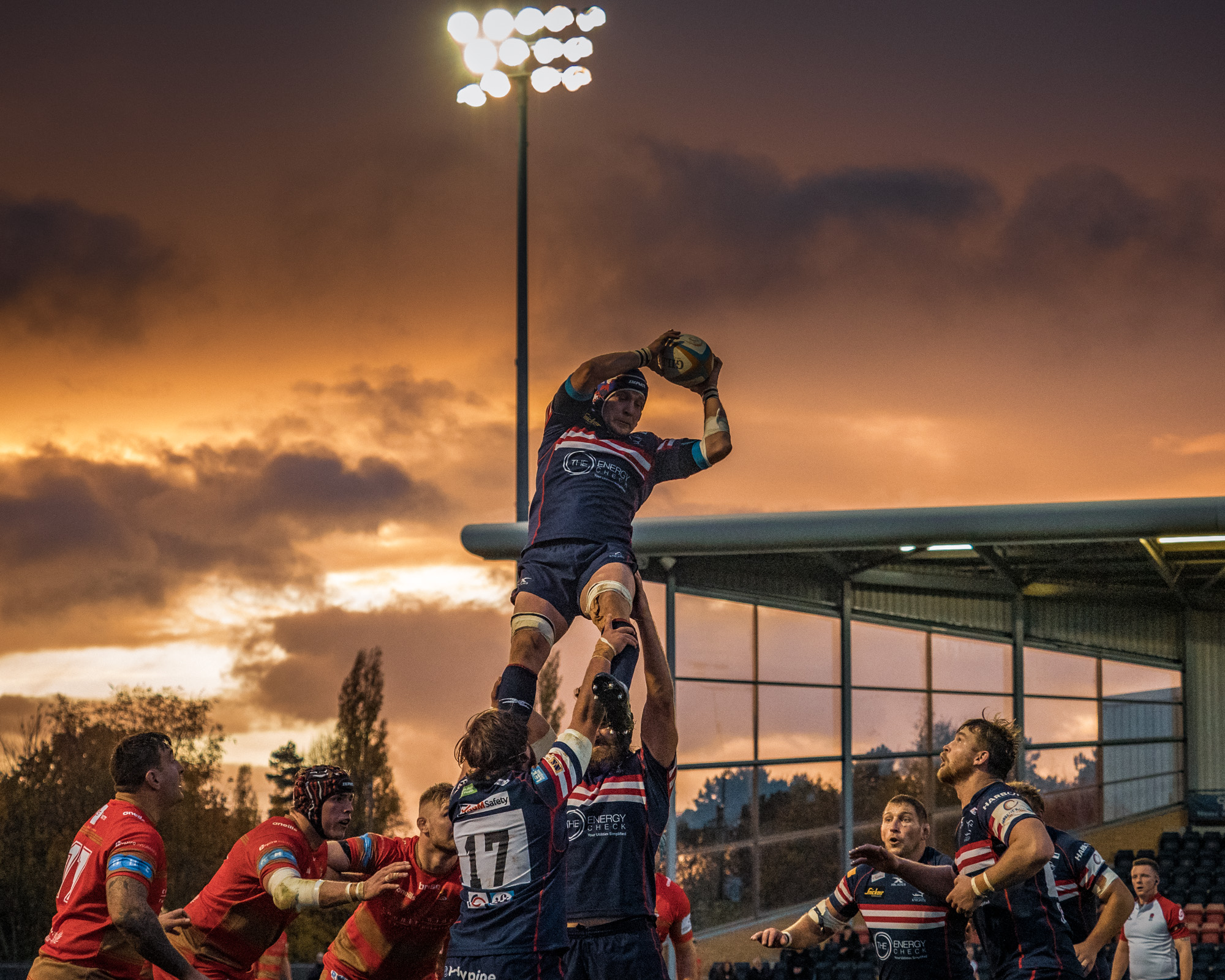 A version of this lineout shot was also quite popular on Instagram. It was the sky that did it!
