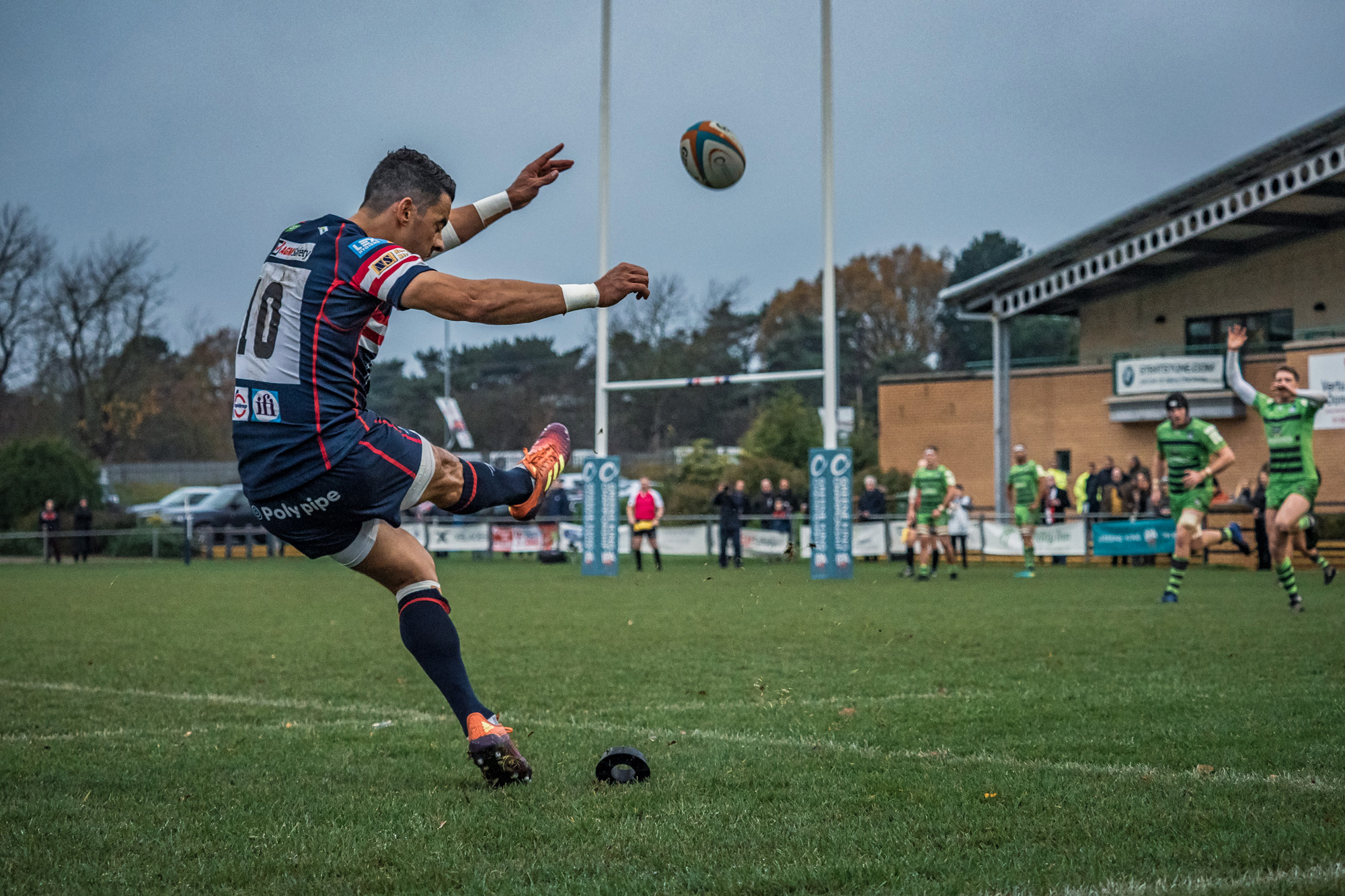 Kick from a different angle - this is the Knights' Kurt Morath, returning from international duty