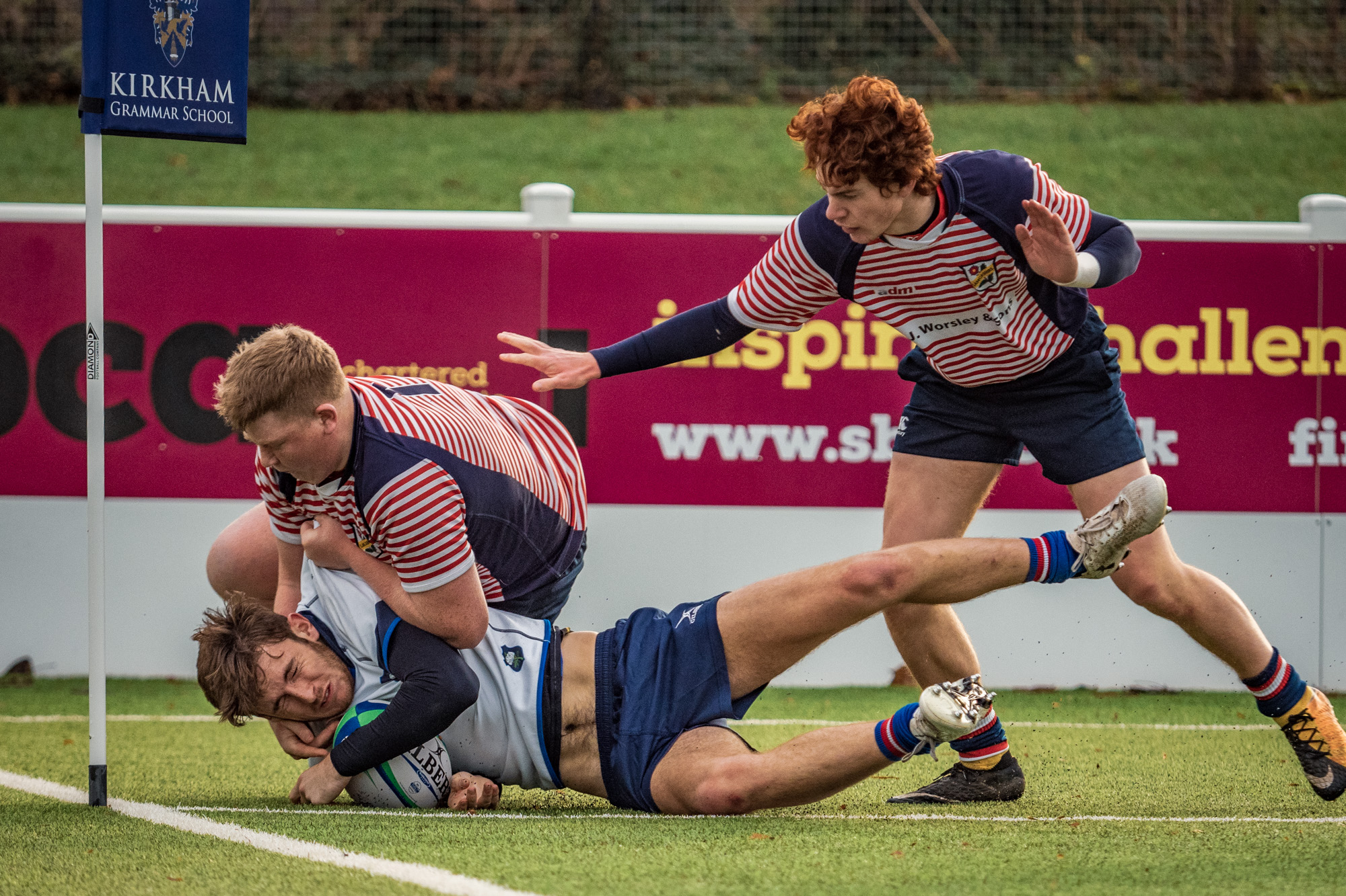One of Yorkshire's two second half tries