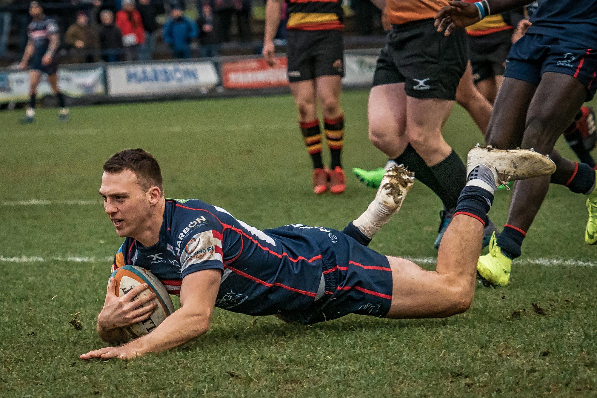 Tom James touches down …