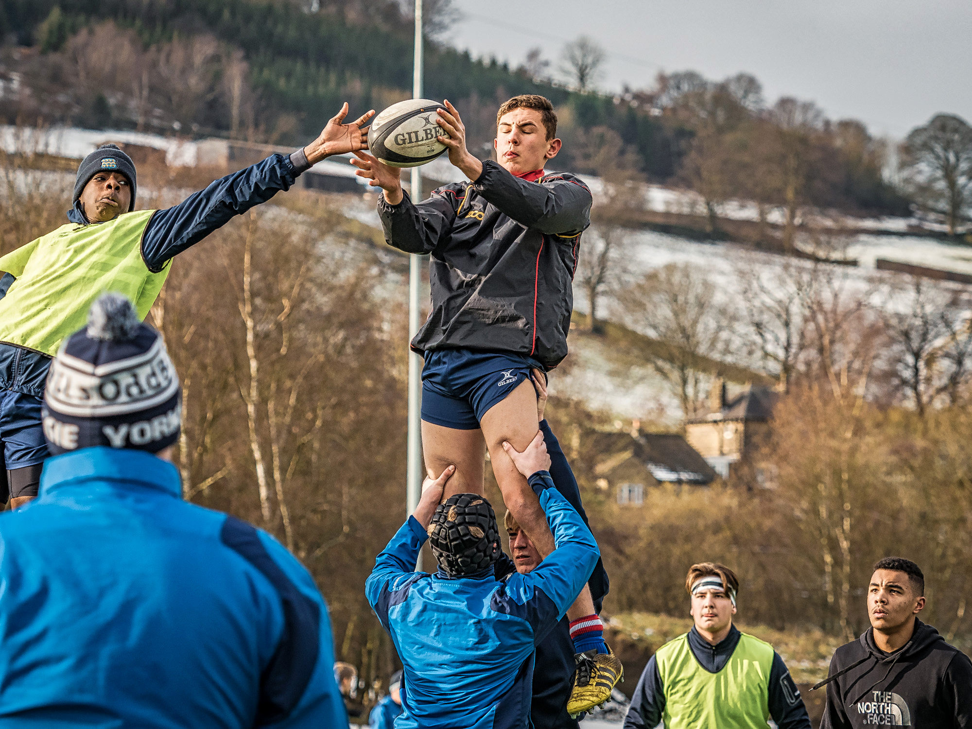 Pre-match lineout work