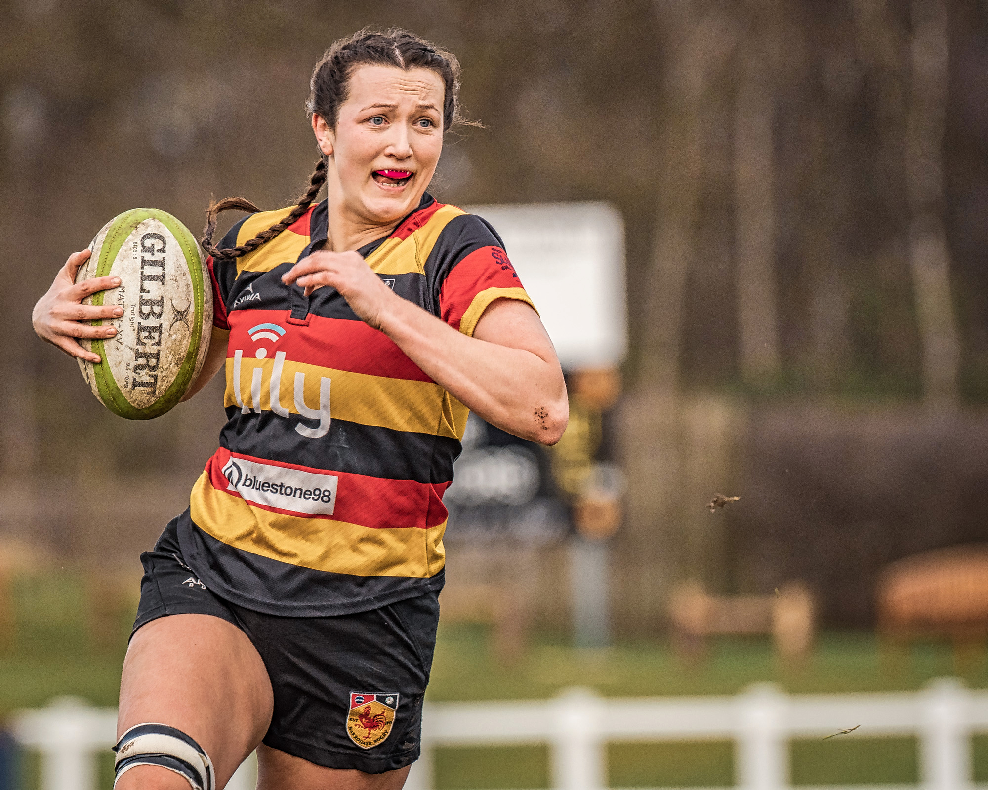 A long run to a try for Anna Hamilton
