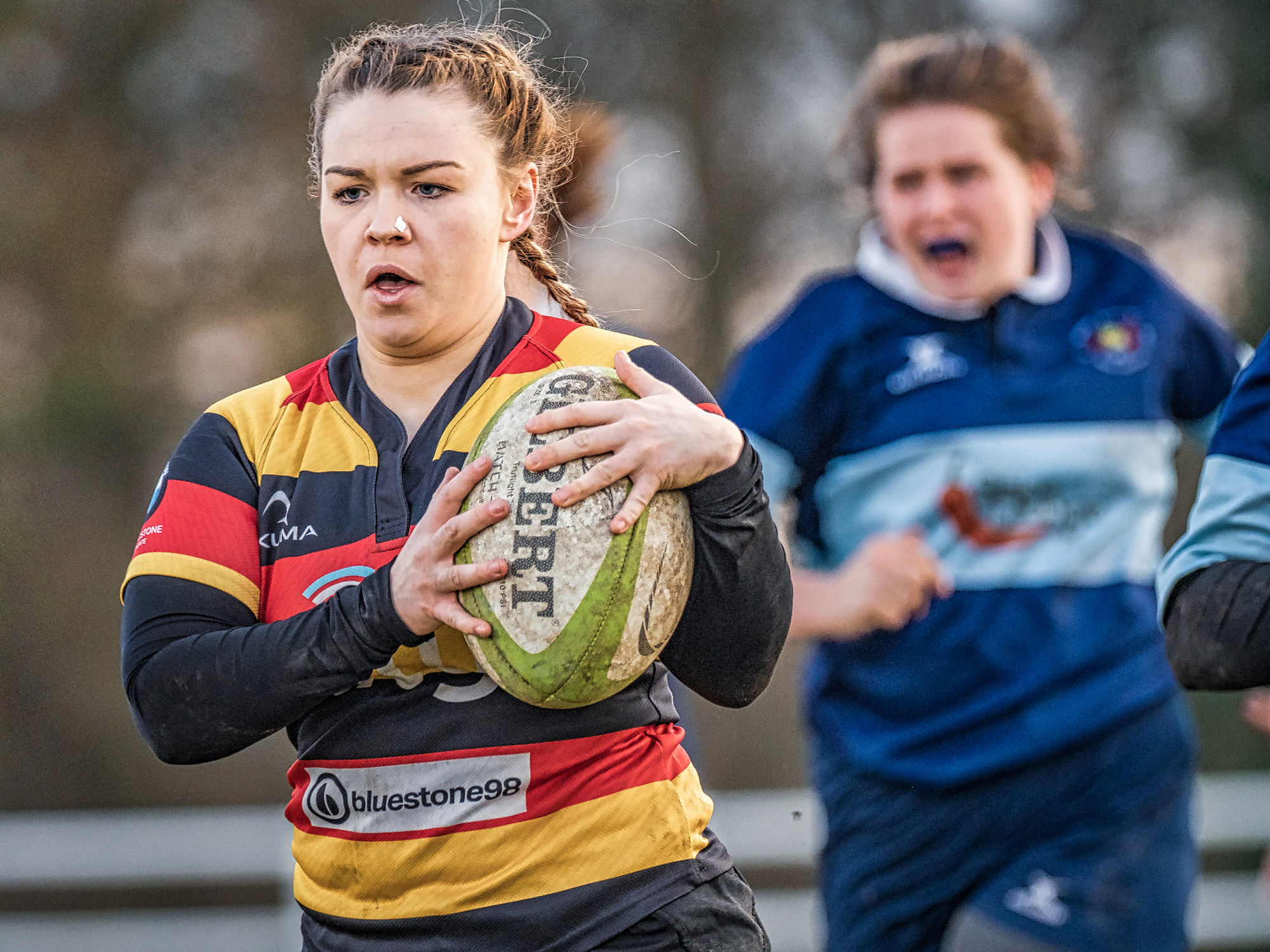 A strong run and tackles evaded leads to a second half try for Sophie Wilson