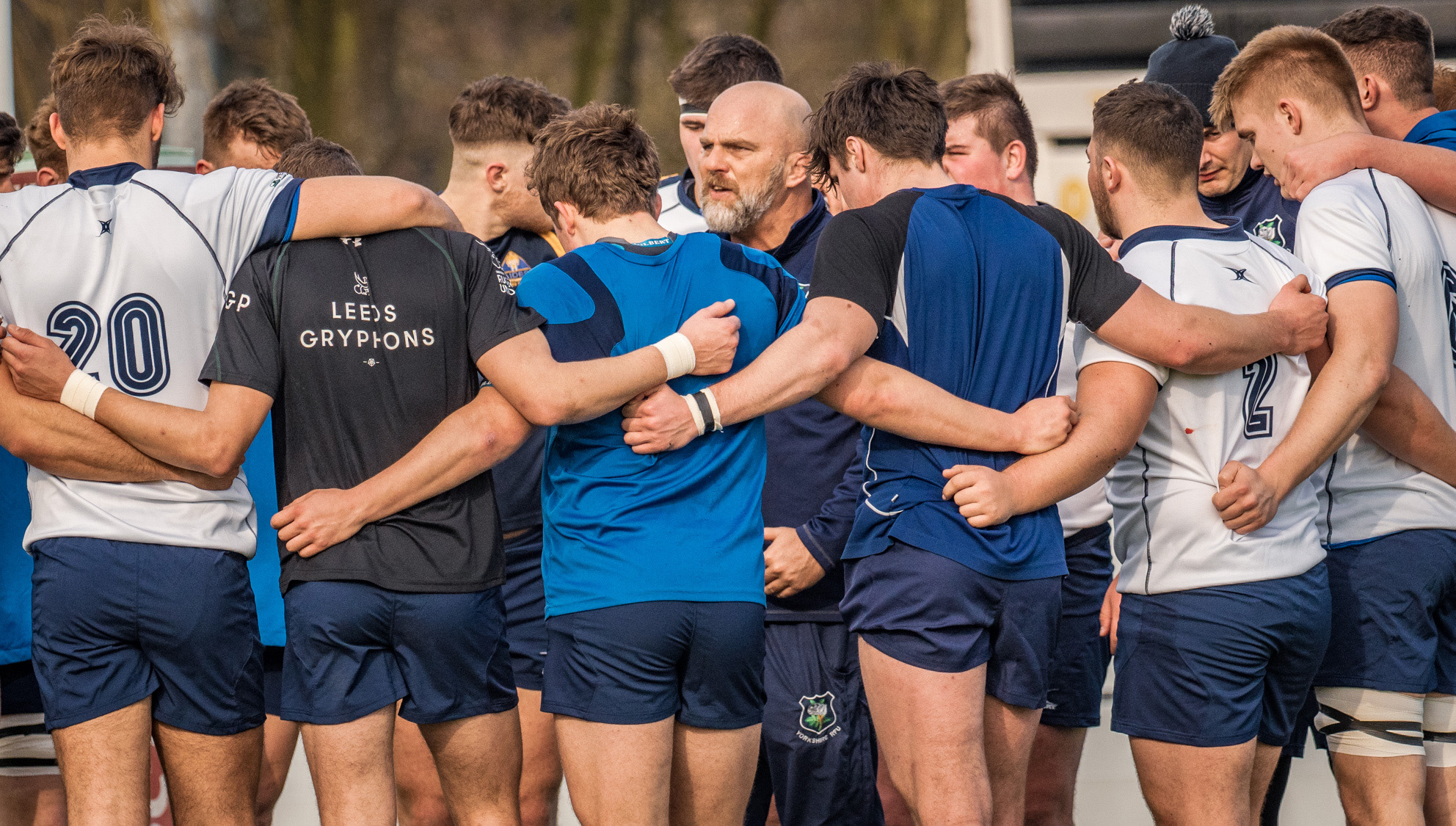 Huddle advice from Yorkshire Under 20s coach Anthony Posa