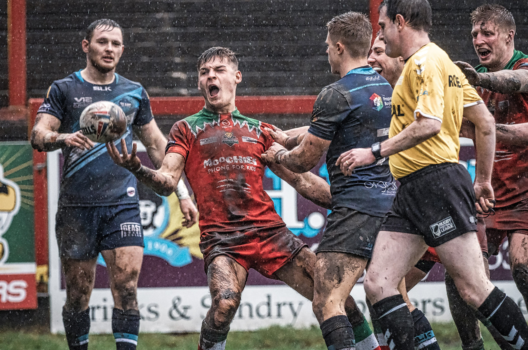 Second Half Try and Celebration