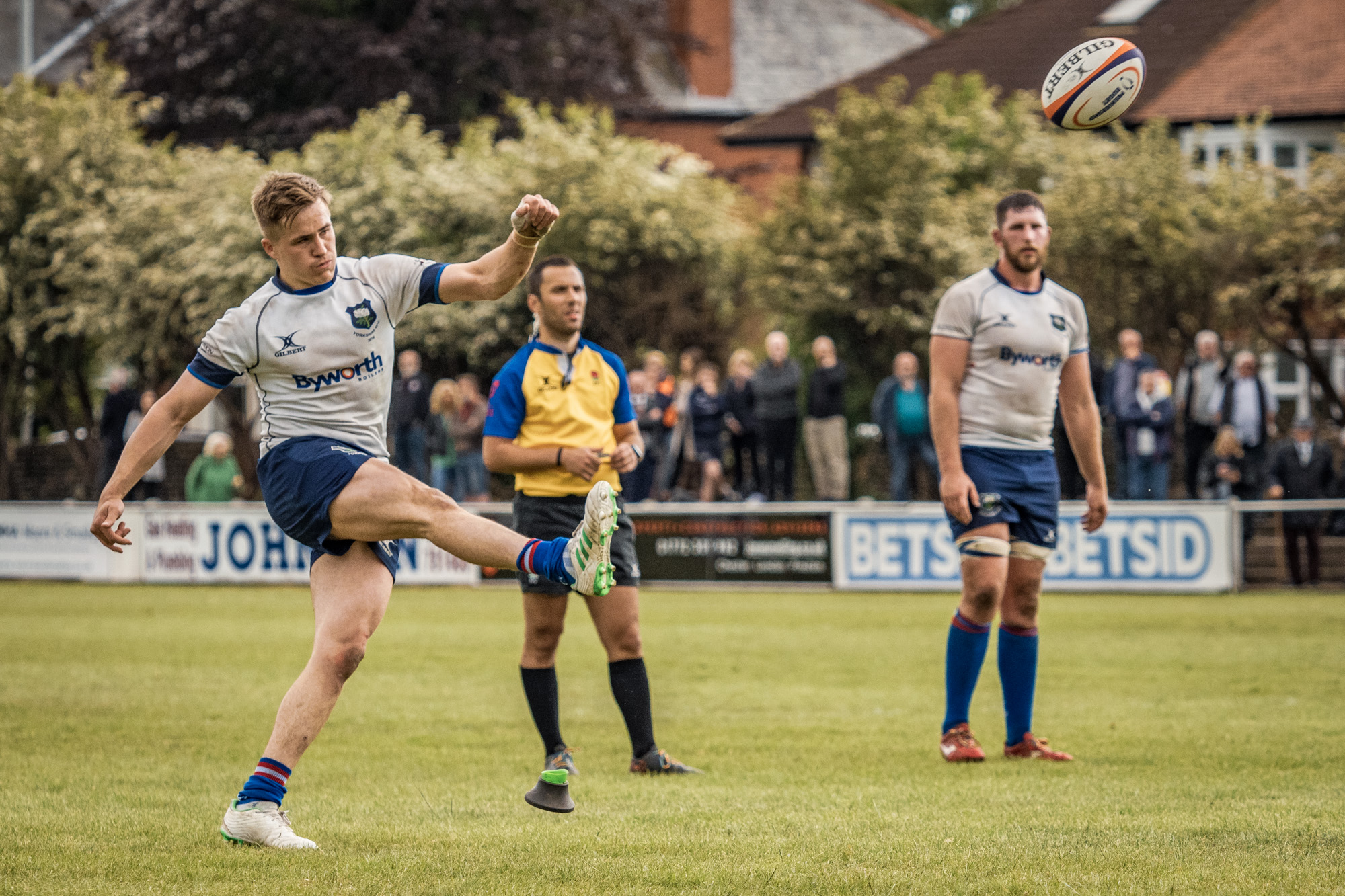 On good kicking form throughout the afternoon, Lewis Minikin had the last word with this one