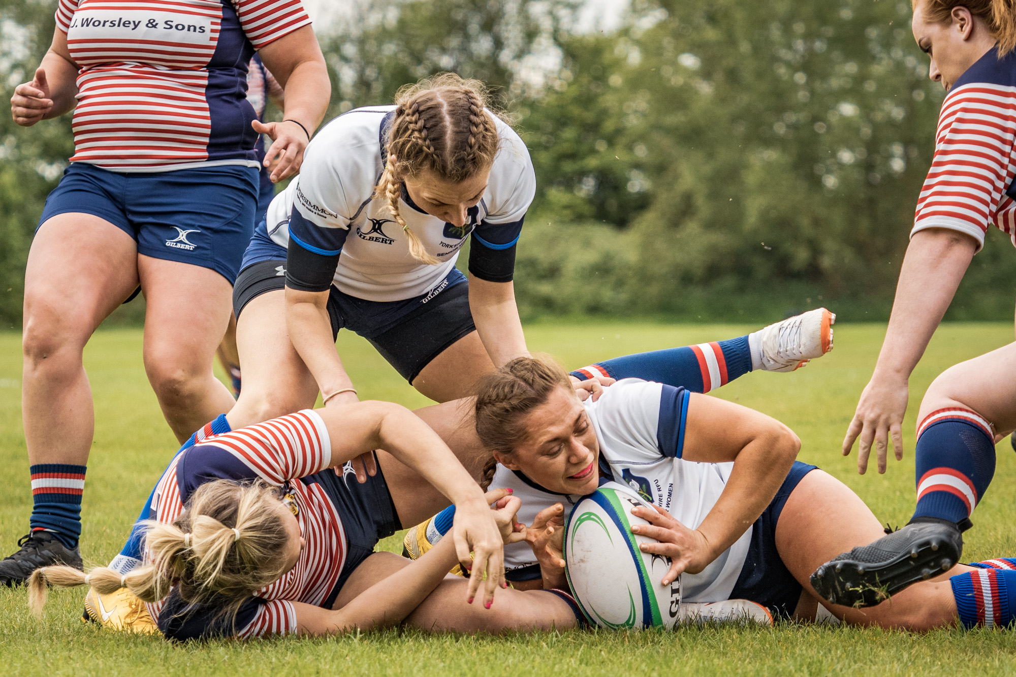 Yorkshire's Georgia Cutt with Yorkshire's opening try