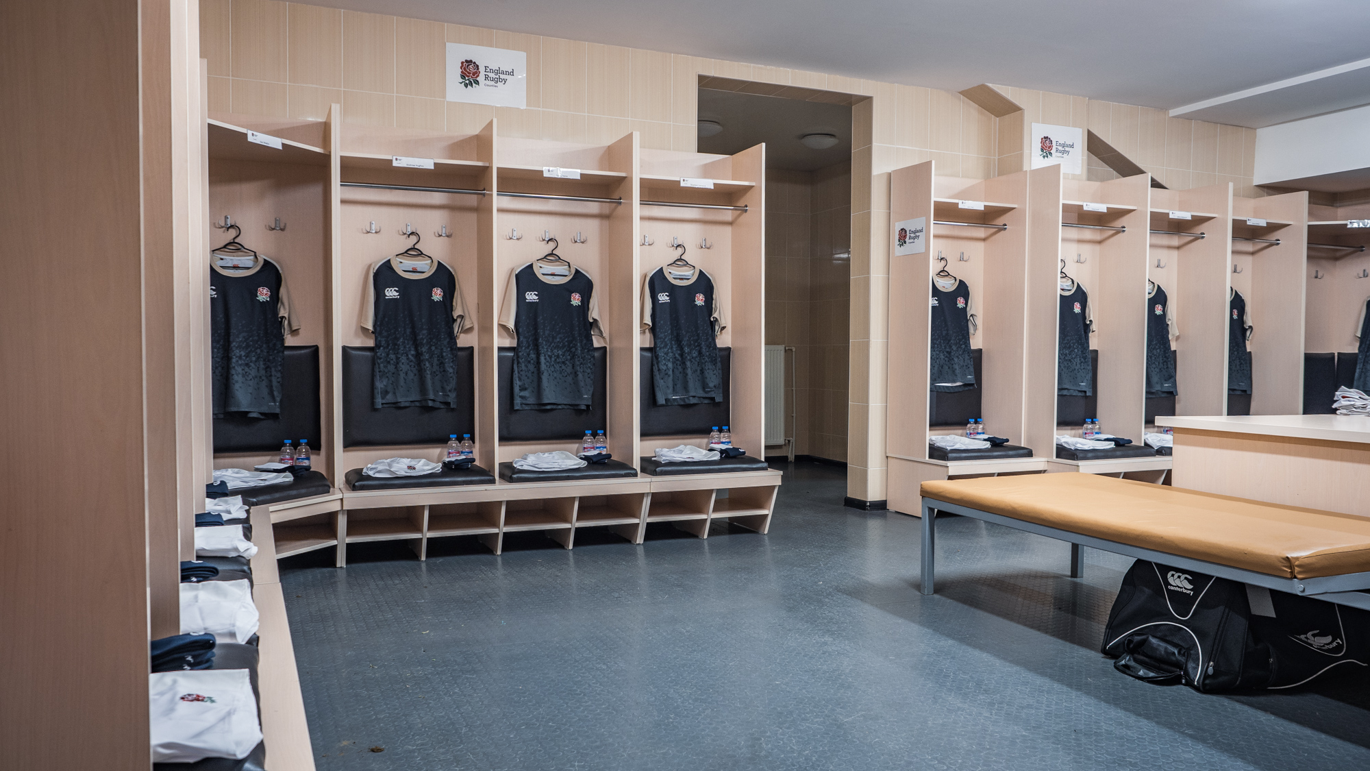 Changing room before the first match