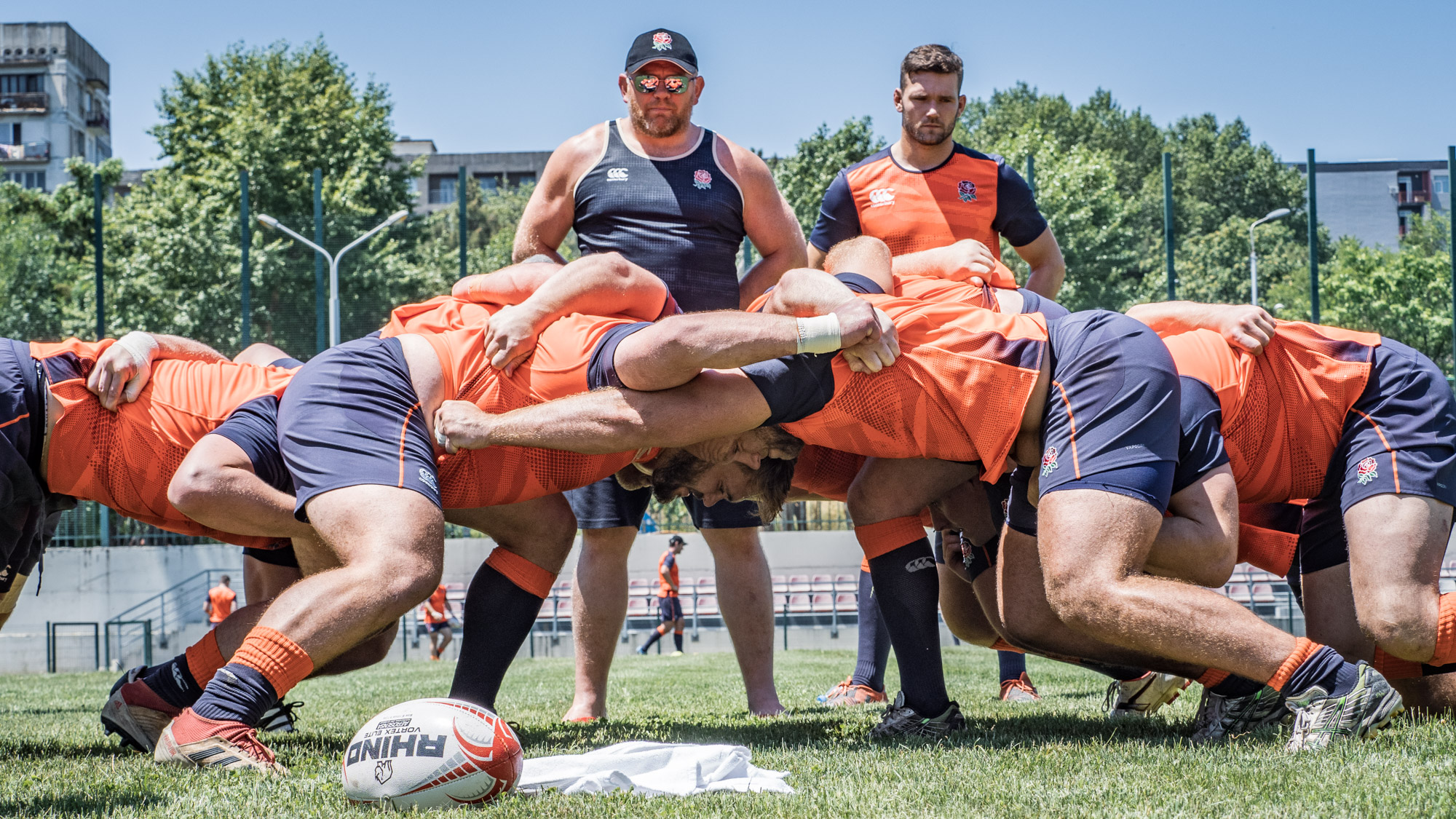Back to the training: here are the forwards working hard in the scrum