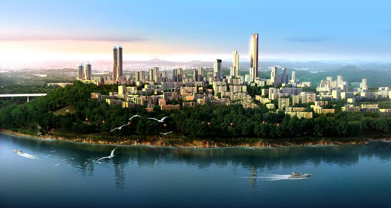 The city is designed to respond to the natural topography of the area.