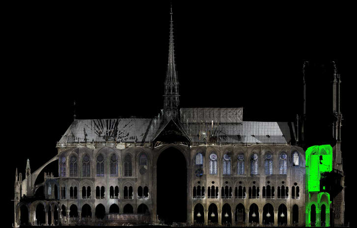 Laser scans & spatial maps will be  critical  to restoring Notre Dame
