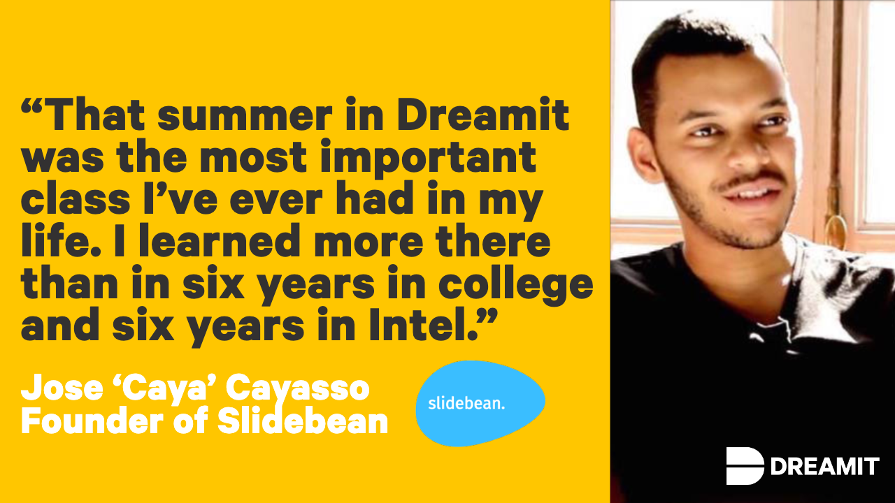 Caya Slidebean Quote about Dreamit.png